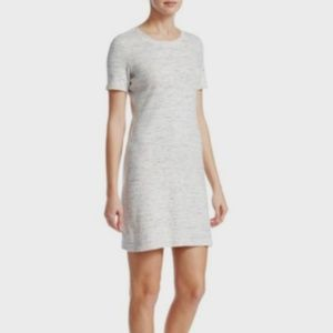 THEORY Ribbed Cotton T-shirt Dress Large L